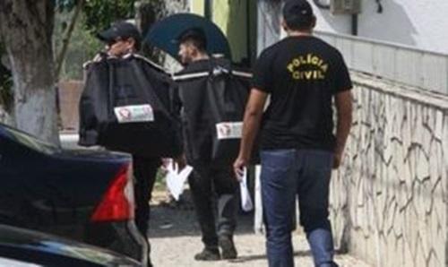 Três membros da mesma família e uma outra pessoa foram presos ontem em Fortaleza na 2ª fase da Operação Cascalho do Mar. Foto: MPCE / Reprodução